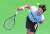 두 달 반 만에 복귀한 정현이 26일 애틀랜타오픈 16강전에서 서브를 넣고 있다. [AFP=연합뉴스]