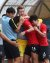 27일 오후 인도네시아 브카시 패트리어트 스타디움에서 열린 2018 자카르타·팔렘방 아시안게임 U-23 남자축구 8강전 대한민국과 우즈베키스탄의 경기에서 황의조가 추가골을 넣고 조현우 품에 안기고 있다. [뉴스1]