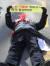 서울개인택시조합 조합원이 14일 오전 서울 더불어민주당 당사 앞에서 열린 '카풀 규탄 생존권 사수 결의대회' 중 도로에 누워 카풀 앱 영업 중단을 촉구하고 있다. [연합뉴스]