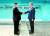 문재인 대통령과 북한 김정은 국무위원장이 4월 27일 판문점에서 군사분계선을 사이에 두고 악수하는 모습. [사진=연합뉴스]