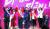 27일 열린 전당대회에서 선출된 자유한국당 새 지도부. 왼쪽부터 김광림·김순례·조경태 최고위원, 황교안 신임 대표, 정미경·신보라 최고위원. [변선구 기자]