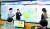 국립환경과학원 대기질통합예보센터 사무실에서 직원들이 6일 전국의 미세먼지 상황을 점검하며 회의를 하고 있다. 왼쪽부터 남기표 전문위원, 장임석 센터장, 김옥길 전문위원. [최승식 기자]