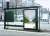 버스 정류장에 설치된 한화금융 BI의 모습.