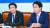 """조정식 더불어민주당 정책위의장(오른쪽)은 21일 회의에서 재정확대 논란에 대해 ''재정 파괴' 운운하는 것은 정치선동""""이라고 말했다. 왼쪽은 이인영 민주당 원내대표. [뉴스1]"""