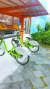 제주도의 공공자전거가 거치돼 있다. 만15세 이상 이용 가능하다.