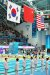 13일 광주 광산구 남부대학교에서 열린 '2019 광주 세계수영선수권대회' 여자 1m 스프링보드 시상식에서 메달 수상국 국기가 게양되고 있다. 중국의 첸 위웬이 금메달, 미국 베이컨 사라가 은메달, 동메달은 한국 김수지가 획득했다. 김수지는 한국 다이빙 역사상 첫 세계수영선수권대회 메달을 획득했다. [뉴스1]