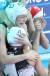 한국 경다슬의 첫 골이 터지자 벤치에 있던 김예진이 조예림을 끌어안으며 감격의 눈물을 흘리고 있다.[연합뉴스]