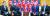 지난달 30일 오후 판문점 자유의 집에서 도널드 트럼프 미국 대통령과 북한 김정은 국무위원장이 만나고 있다. 왼쪽부터 이용호 북한 외무상, 김 국무위원장, 트럼프 대통령, 마이크 폼페이오 미국 국무장관. [연합뉴스]