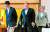 강경화 외교부 장관, 마이크 폼페이오 미국 국무장관, 고노 다로 일본 외무상(오른쪽부터)이 지난해 7월 도쿄 외무성 이쿠라공관에서 회담하기 위해 자리로 이동하고 있다. [AFP=뉴스1]