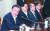 문재인 대통령이 12일 청와대에서 열린 수석·보좌관 회의를 주재하며 모두발언을 하고 있다. 왼쪽 둘째부터 청와대 국가안보실 정의용 실장, 김유근 1차장, 김현종 2차장. [청와대사진기자단]