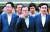 이해찬 민주당 대표(오른쪽)가 28일 인천 남동공단 서 열린 '글로벌 경쟁력 강화를 위한 더불어민주당 현장최고위원회의'를 마친 뒤 박남춘 인천시장(왼쪽)과 생산 공장을 둘러보고 있다. [뉴스1]