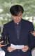 조국 법무부 장관 후보자가 예정된 청문회를 하루앞둔 1일 오후 서울 종로구 적선현대빌딩에 마련된 인사청문회 준비사무실로 출근해 입장을 밝히고 있다. [연합뉴스]
