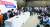 자유한국당 의원들이 3일 국회에서 '조국 후보자의 거짓! 실체를 밝힌다' 기자간담회를 진행하고 있다. 왼쪽부터 곽상도·김진태·주광덕·이은재·박인숙·김도읍 의원. [뉴스1]