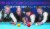 LG U+ 스리큐션 마스터스에 출전한 딕 야스퍼스, 다니엘 산체스, 조명우, 토브욘 브롬달(왼쪽부터)이 큐를 잡고 포즈를 취했다. 김상선 기자