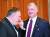지난 6월 30일 오전 청와대에서 마이크 폼페이오(왼쪽) 미 국무부 장관과 스티븐 비건 미 국무부 대북정책특별대표가 한미 확대 정상회담 전 대화를 나누고 있다. [청와대사진기자단]