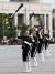 25일 오후 전쟁기념관 평화광장에서 열린 국군, 군악 의장행사에서 여군 의장대가 시범을 보이고 있다. [뉴스1]