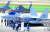 서울 ADEX 2019가 열린 성남 서울공항 활주로에 KF-X 실물 모형(앞)과 소형무장헬기(LAH)가 계류되어 있다. [사진 뉴시스]