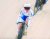 이혜진이 지난해 자카르타-팔렘방 아시안게임 트랙 사이클 여자 개인 경륜 결승전에서 스퍼트하는 모습. [연합뉴스]