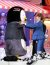 펭수가 방탄소년단 제이홉과 포옹하고 있다. [사진 일간스포츠]