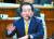 정세균 국무총리 후보자 7일 국회 인사청문회에서 의원들 질문에 답변하고 있다. 임현동 기자