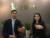 박현식 태림 변호사(오른쪽)와 최초롱 화난사람들 변호사·대표(왼쪽)도 대한항공 마일리지를 적립하는 신용카드를 사용하고 있다며 자신이 소유한 신용카드를 꺼내보였다. 문희철 기자.