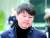 지난해 11월 27일 유재수 전 부산시 경제부시장이 금융위원회 재직 당시 업체들로부터 금품을 받은 혐의를 받의로 법원의 영장실질심사에 출석하고 있다. 그는 이날 구속됐다. [뉴스1]