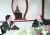 1996년 10월 고 구본무 LG그룹 회장을 만난 잭 웰치 전 GE 회장(오른쪽). [사진 LG]