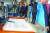 유영하 변호사의 기자회견 도중 연단에 놓인 박 전 대통령의 자필 편지. 유 변호사는 정식 절차를 밟아 우편으로 받았다고 밝혔다. [연합뉴스]