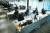 신종 코로나바이러스 감염증(코로나19) 확산으로 서울 종로의 한 대기업 사옥 사무실이 재택근무 실시로 텅 비어 있다. 뉴스1