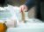 서울역 KTX대합실에 마련된 제21대 국회의원 선거 서울 용산구 남영동 사전투표소에서 투표하는 유권자들. 비닐 장갑을 낀 채 투표했다. 신종 코로나 방역 대책의 일환이다. 신인섭 기자