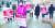 4·15 총선에서 서울 광진을에 출마했던 미래통합당 오세훈 전 서울시장이 선거운동을 하는 곳에 서울대학생진보연합 회원들이 나와 피켓을 들고 있다. [사진 오세훈 후보 측]