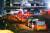 29일 화재로 대형 인명피해가 발생한 경기도 이천시 모가면 A물류창고 앞에서 구급차들이 사상자 이송을 위해 줄지어 대기하고 있다. [연합뉴스]