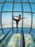 잠실 롯데월드타워 전망대 서울스카이에서 열린 요가 클래스. 롯데월드타워 44~70층에 '하늘 위 궁전'인 시그니엘레지던스가 들어서 있다.