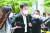 가족 비리와 감찰 무마 의혹 사건 등으로 기소된 조국 전 법무부 장관이 8일 오후 서울 서초구 서울중앙지방법원에서 열린 첫 공판에 출석하고 있다. [연합뉴스]