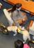 20일 미래한국당 김예지 당선인의 안내견 '조이'가 서울 여의도 국회 본회의장에서 열린 초선 당선인 본회의장 방문 및 설명회에서 김 당선인 옆에 자리하고 있다. 연합뉴스