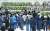 4월 30일 오후 경기 이천시 서희청소년문화센터에 마련된 이천 물류창고 공사장 화재 합동분향소에서 유가족이 눈물을 흘리고 있다. 연합뉴스.