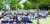 인천공항공사 노조원들이 지난 23일 보안검색 요원 1902명에 대한 공사의 일방적인 정규직 전환 방침에 반대하는 집회를 하고 있다. [뉴시스]