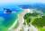 하늘에서 내려다본 수목원 전경. 왼쪽 낭새섬도 수목원의 일부다. [사진 천리포수목원]