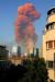 8월 4일 레바논의 수도 베이루트에서 발생한 질삼암모늄 폭발사고로 거대한 버섯 구름이 생기고 있다. AFP=연합뉴스