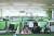 SK텔레콤이 사회적 거리두기가 2단계로 격상됨에 따라 18일부터 23일까지 전 직원 재택근무를 시행한다. 사진은 지난 3월 재택근무 조치 당시 서울 고척 고객센터의 텅빈 사무실. [연합뉴스]