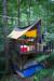 청옥산 자연휴양림에는 국내에서 유일무이한 복층 캠핑 데크가 있다. 하늘의 별따기 수준으로 예약 경쟁이 워낙 치열하다. 최승표 기자