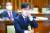 조성대 중앙선거관리위원 후보자가 22일 국회 인사청문회에서 질문을 듣고 있다. 오종택 기자