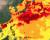 미국 해양대기청(NOAA)의 세계 산호 백화 경고 현황. 짙은 붉은색이 가장 높은 단계의 백화 위협을 나타낸다. 대만 근해와 일본, 북태평양 일대에 가장 높은 경보가 발령됐다.