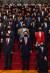 국민의힘 의원들이 24일 국회 로텐더홀 계단에서 북한군 총격으로 사망한 공무원 사건의 규탄 대회를 열고 구호를 외치고 있다. 오종택 기자