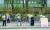 21일부 천시청 앞에서 부천동성애대책시민연대 등이 '부천시 인권보장 및 증진에 관한 조례안' 폐지를 촉구하는 집회를 하고 있다. 인천지법이 엄격한 방역조건을 제시하며 허용한 집회다. [연합뉴스]