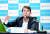 이동걸 산업은행 회장이 28일 연임(9월 11일) 이후 처음 가진 온라인 기자간담회에서 경영 전략을 설명하고 있다. [사진 산업은행]