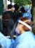 대전시 서구 만년동 서구보건소 선별진료소에서 신종 코로나바이러스 감염증(코로나19) 검사를 받기 위해 시민들이 줄을 서고 있다. [연합뉴스]
