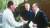 1978년 미국 캠프데이비드 별장에서 평화협상 중인 사다트 이집트 대통령, 카터 미국 대통령, 그리고 베긴 이스라엘 총리(왼쪽부터). [중앙포토]
