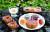 지질공원 지역 주민들이 개발한 '지오푸드'도 다채롭다. 제주 화산 지형을 본딴 주먹밥. [중앙포토]