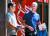 6년 전인 2014년 7월 선밸리 컨퍼런스에서 이재용 부회장은 피케 셔츠 차림으로 티셔츠를 입은 팀 쿡 애플 CEO와 만났다. [중앙포토]